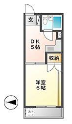稲垣ビル[4階]の間取り