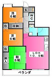 メルベーユ秀華[7階]の間取り