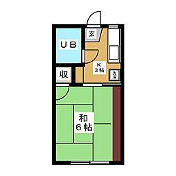 コーポラスプレザント[2階]の間取り
