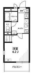 神奈川県横浜市緑区北八朔町の賃貸アパートの間取り