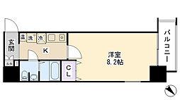 ダイドーメゾン神戸元町[306号室]の間取り