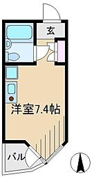 コモド駒込ハイツ[4階]の間取り