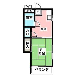 カノウハイム[4階]の間取り