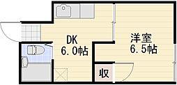 長野県長野市大字南長野北石堂町の賃貸アパートの間取り