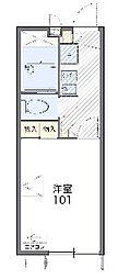エクセル岡本[2階]の間取り