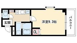 愛知県名古屋市天白区井口1丁目の賃貸アパートの間取り
