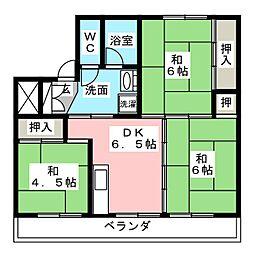 ビレッジハウス南中津川 2号棟[4階]の間取り