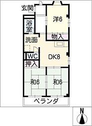 ロジュマンKT[3階]の間取り