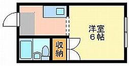 岡山県岡山市北区中井町2丁目の賃貸アパートの間取り