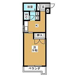 SKRハイツII[3階]の間取り