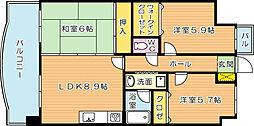 オロマーレ折尾南I[7階]の間取り