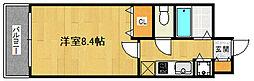 福岡県福岡市早良区城西2丁目の賃貸マンションの間取り