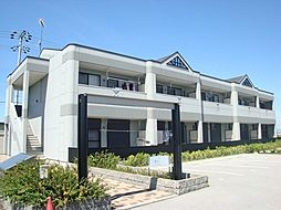 滋賀県愛知郡愛荘町軽野の賃貸アパートの外観