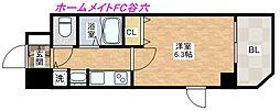 プレサンス心斎橋ザ・スタイル[7階]の間取り