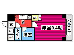 フォレスト・ヒル仙台青葉 3階1Kの間取り