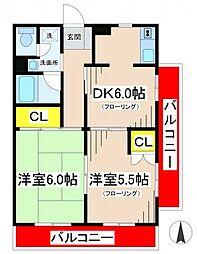 サンハーモニー[2階]の間取り