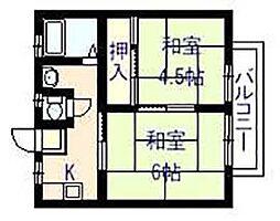 パナハイツ 田中[2階]の間取り