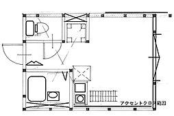神奈川県横浜市鶴見区生麦5丁目の賃貸アパートの間取り