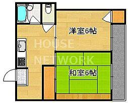 紫竹ハイム[1-B号室号室]の間取り
