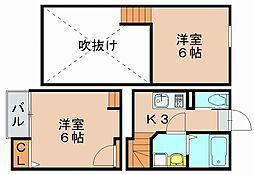 イルサンテ3[2階]の間取り