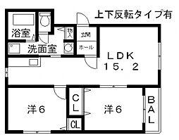 ピュアライフ太子堂[201号室号室]の間取り