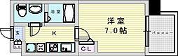 阪急宝塚本線 三国駅 徒歩5分の賃貸マンション 6階1Kの間取り