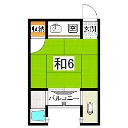 明和荘[1階]の間取り