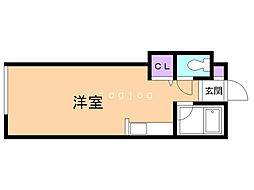 WING22 3階ワンルームの間取り