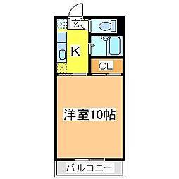広島県東広島市西条中央6丁目の賃貸アパートの間取り