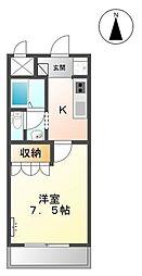 グランディール姫路[2階]の間取り