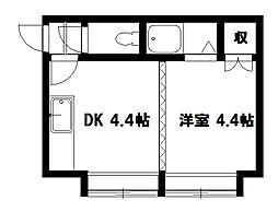 ホワイトパレス栄通[7号室]の間取り