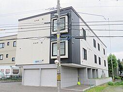 北海道札幌市豊平区月寒東一条1丁目の賃貸アパートの外観