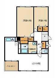 コスタ・ミラにしきのはま5番館[2階]の間取り