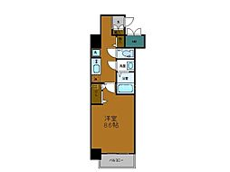 Osaka Metro中央線 堺筋本町駅 徒歩5分の賃貸マンション 2階1Kの間取り