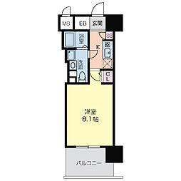 エコロジー京橋レジデンス[0617号室]の間取り
