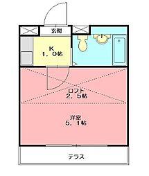 田村アパートメント[107号室]の間取り