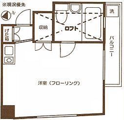 カーサコスモ[3階]の間取り