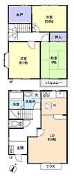 [テラスハウス] 千葉県八千代市勝田台5丁目 の賃貸【/】の間取り