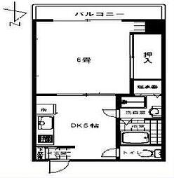 光10マンション[6階]の間取り
