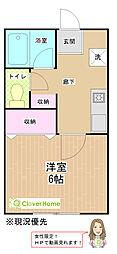 神奈川県相模原市南区東大沼4丁目の賃貸アパートの間取り