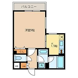 フォレシティ桜新町α[408号室]の間取り