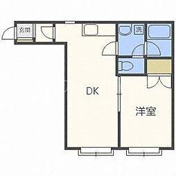 北海道札幌市豊平区旭町2丁目の賃貸アパートの間取り
