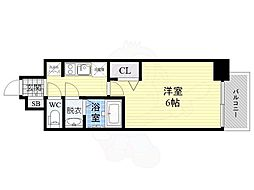 JR片町線(学研都市線) 鴫野駅 徒歩1分の賃貸マンション 7階1Kの間取り