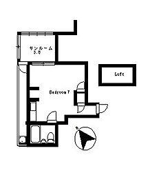 コエル第3ビル[4階]の間取り