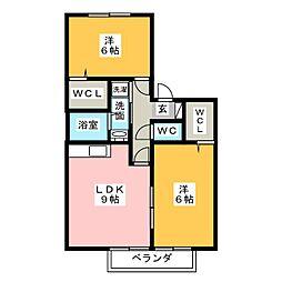 ノースステラ B[1階]の間取り