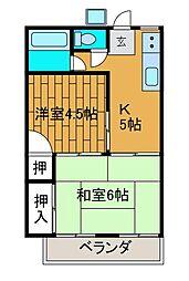 十和田コーポ[1階]の間取り