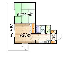アーバンパレス横須賀[307号室]の間取り