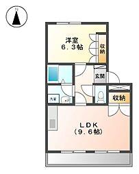 Villa 花水木II[2階]の間取り