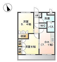 和歌山県和歌山市出島の賃貸アパートの間取り