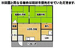 有田荘[2階]の間取り